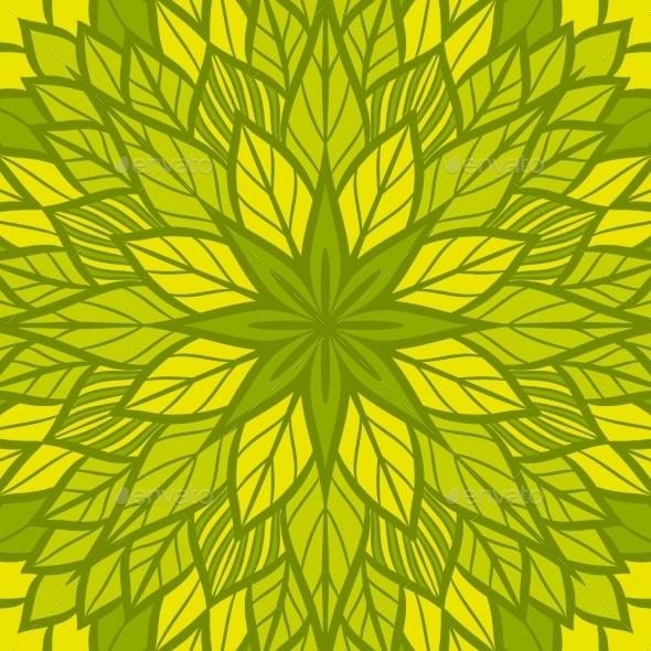 Round Floral Pattern - Patterns Decorative