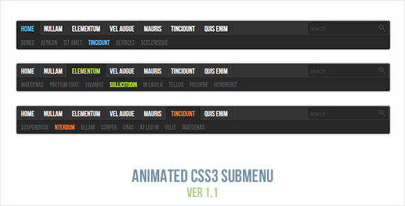 Animated CSS3 Submenu - CodeCanyon Item for Sale