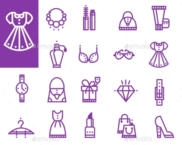 Shopping Icons - Decorative Symbols Decorative