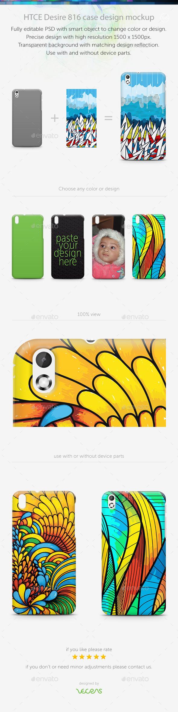 HTCE Desire 816 Case Design Mockup