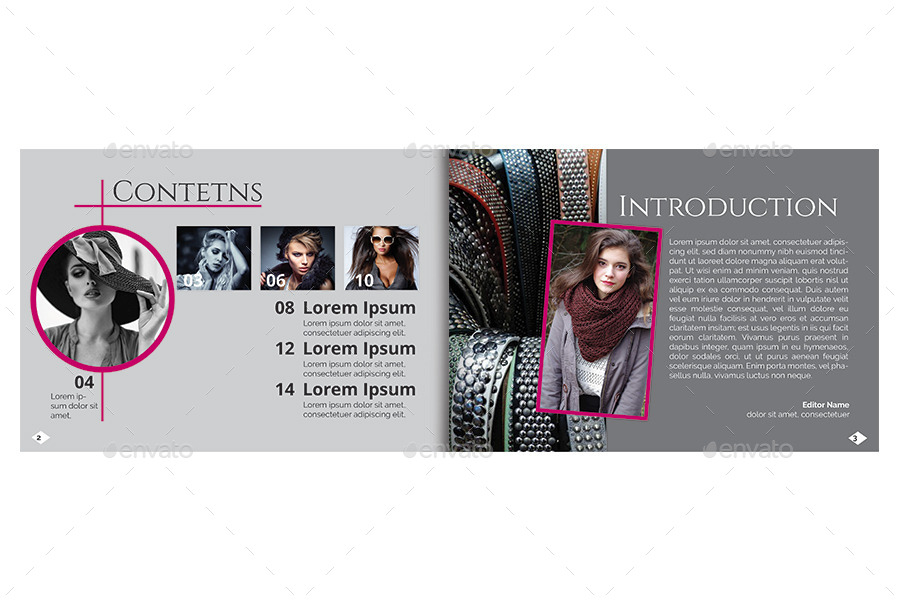 A5 fashion brochure booklet template by reusam for Fashion brochure templates