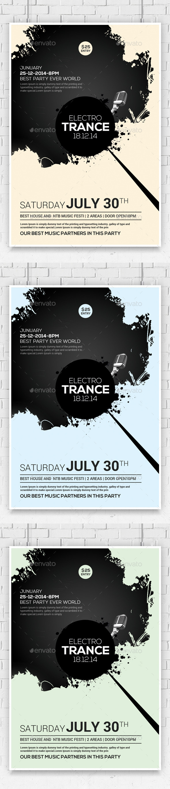 Futuristic Flyer/Poster Templates - Clubs & Parties Events