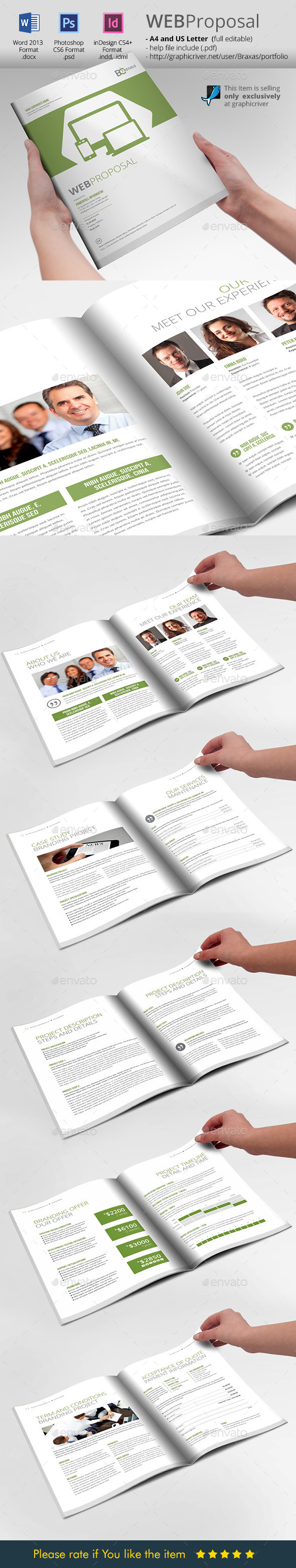 WEB Proposal Brochure Template - Proposals & Invoices Stationery