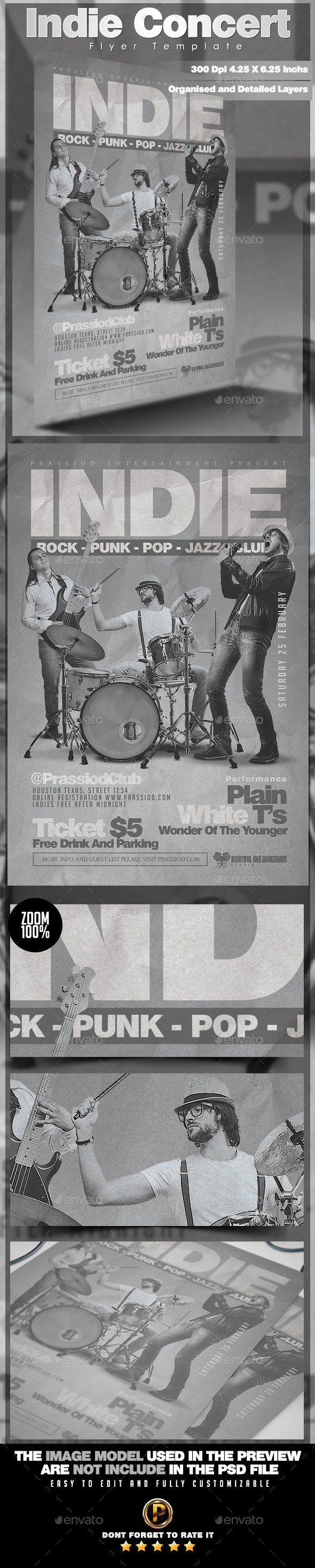 Indie Concert Flyer Template - Concerts Events