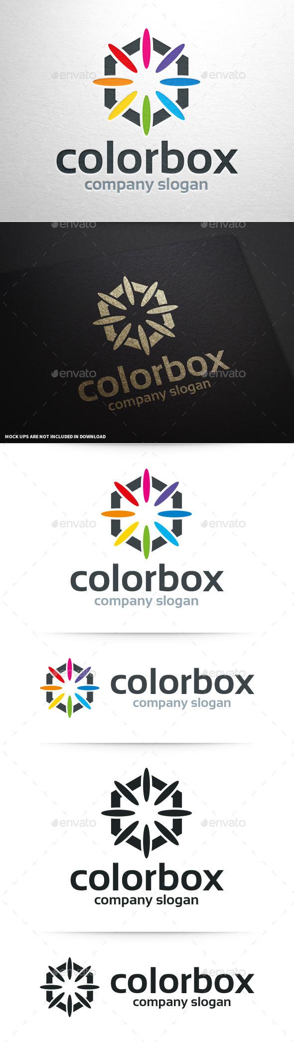 Color Box Logo Template - Abstract Logo Templates