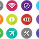 Navigation Flat Icons - GraphicRiver Item for Sale