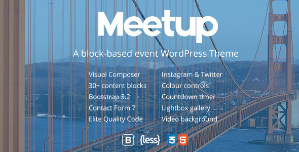 Meetup | Conference & Event WordPress Theme - Events Entertainment