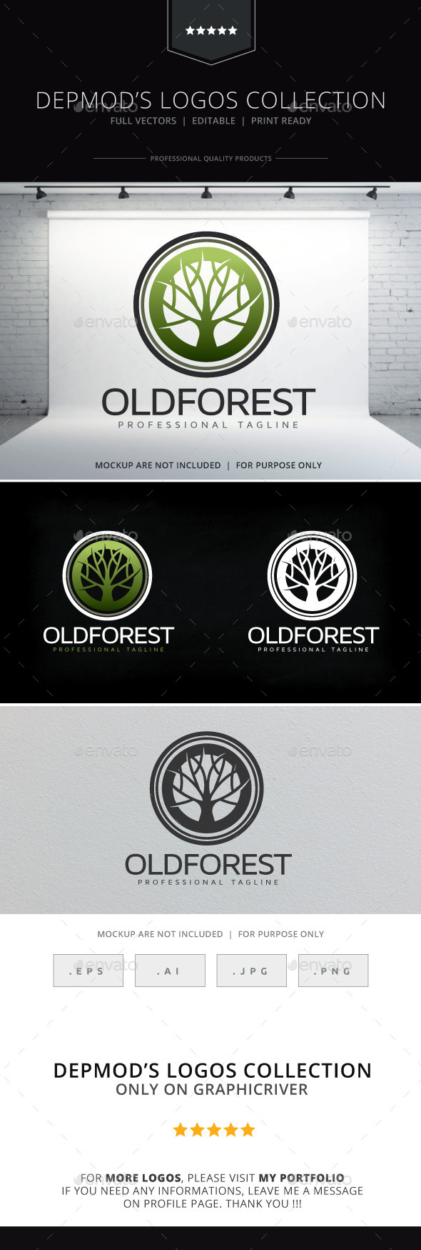 Old Forest Logo - Nature Logo Templates