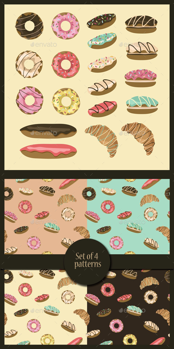 Pastry Set - Food Objects
