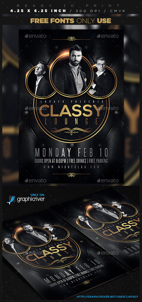 Classy Lounge Party Flyer - Clubs & Parties Events
