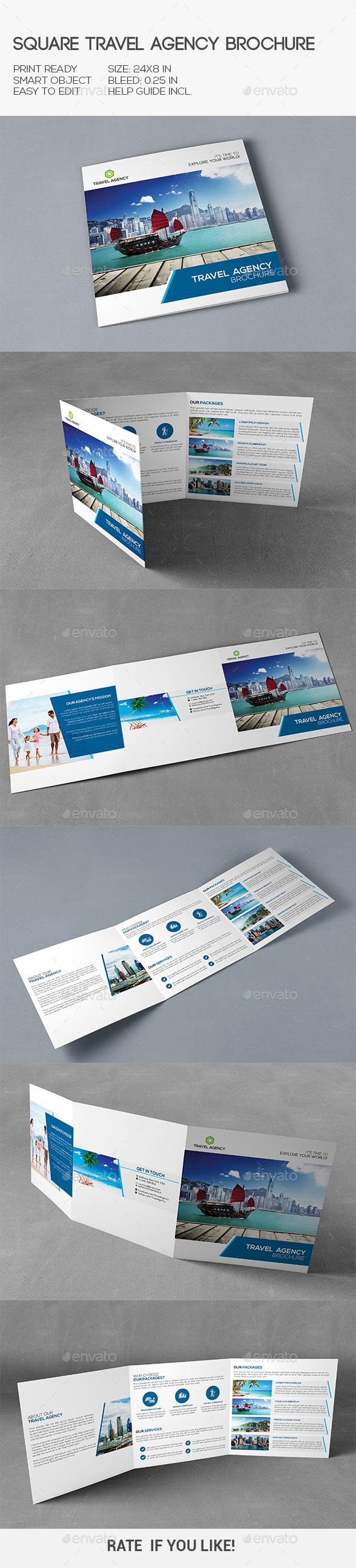 Travel Agency Square Brochure - Corporate Brochures