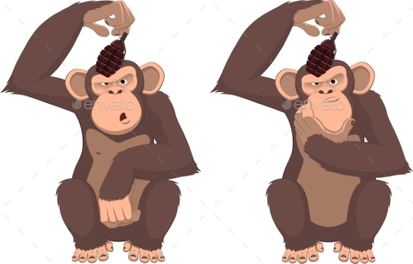 Monkey with Grenade  - Animals Characters
