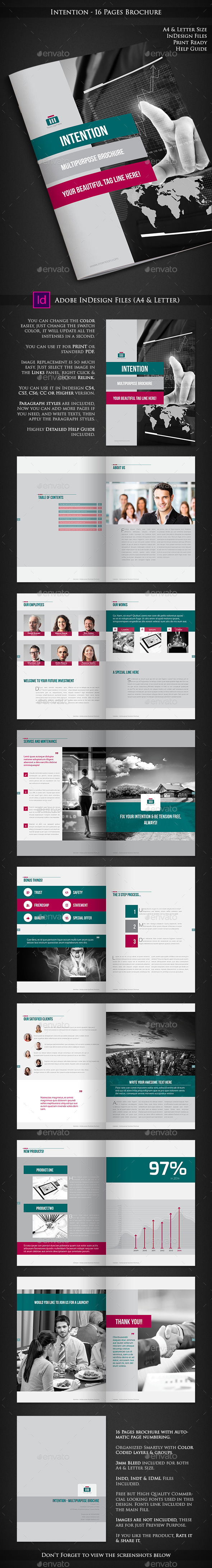 Intention - Multipurpose Corporate Brochure - Corporate Brochures