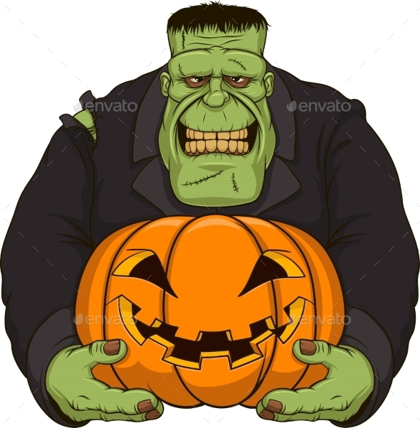 Zombie with Pumpkin - Monsters Characters