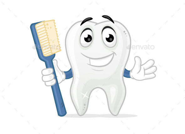 Tooth Mascot - Objects Vectors