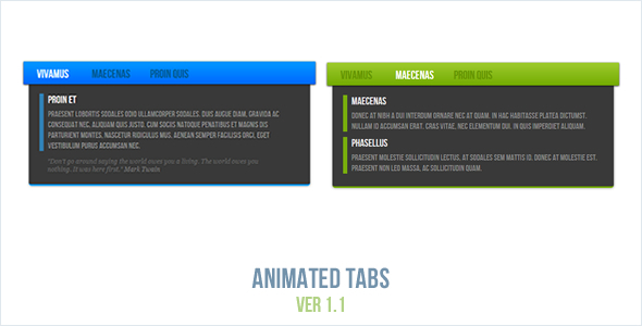 Download Animated Tabs nulled version