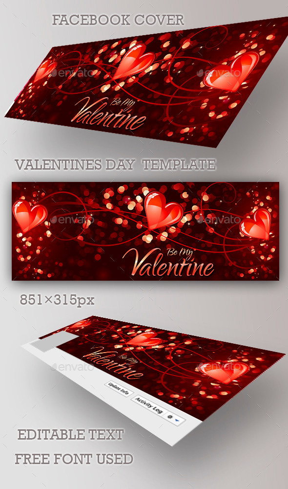 Valentines Day  Facebook Cover - Facebook Timeline Covers Social Media