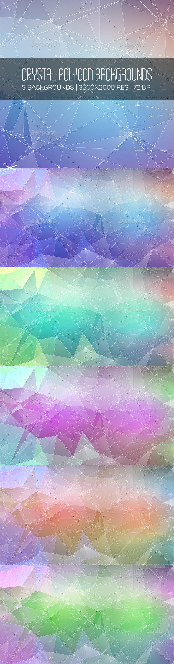 Crystal Polygon Backgrounds - Abstract Backgrounds