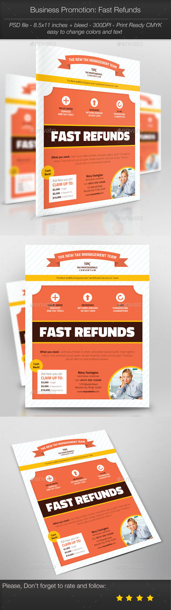 Business Promotion: Fast Refunds - Corporate Flyers