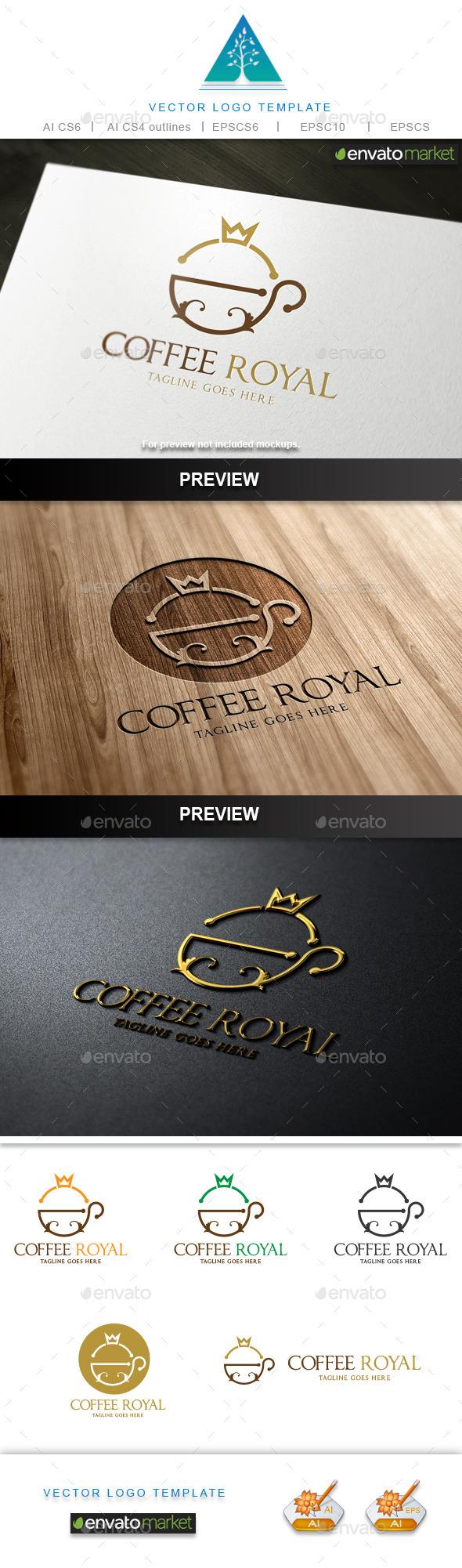 Coffee Royal Logo - Food Logo Templates