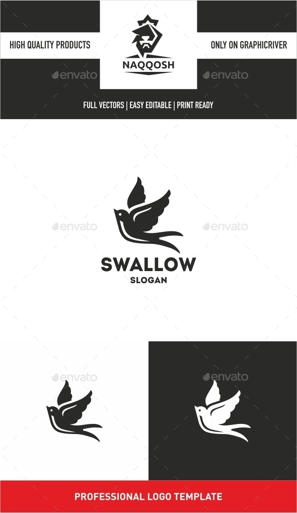 Swallow - Nature Logo Templates