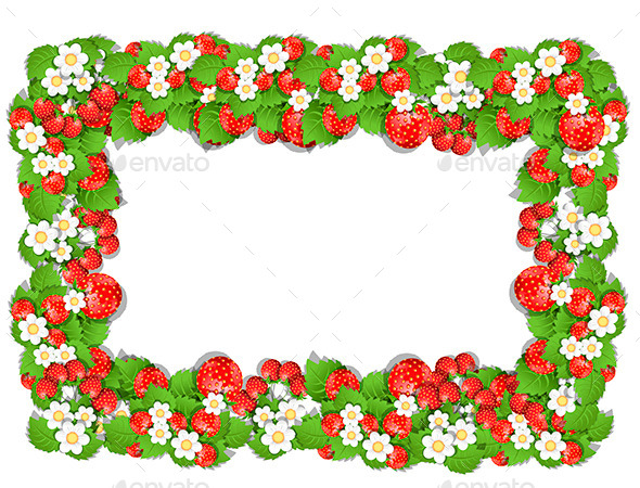 Frame of Strawberry - Borders Decorative