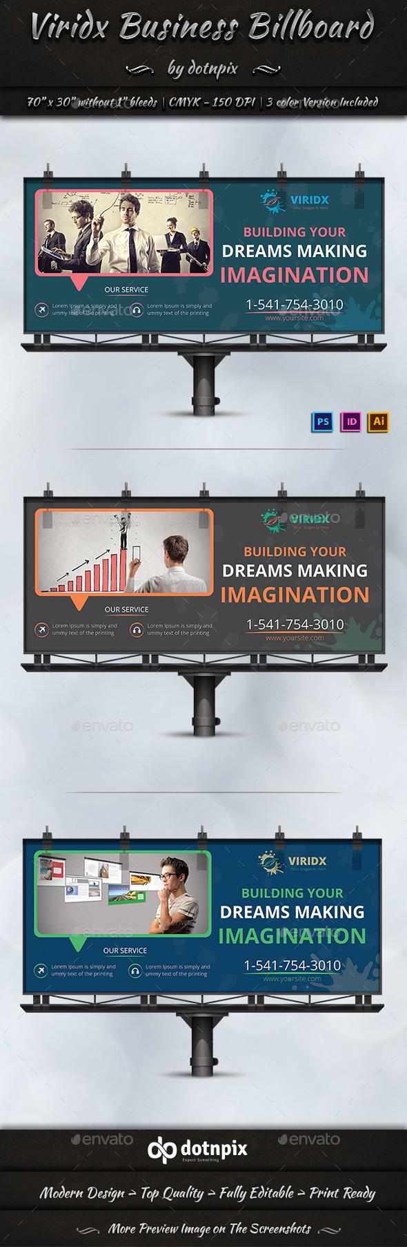 Viridx Business Billboard - Signage Print Templates
