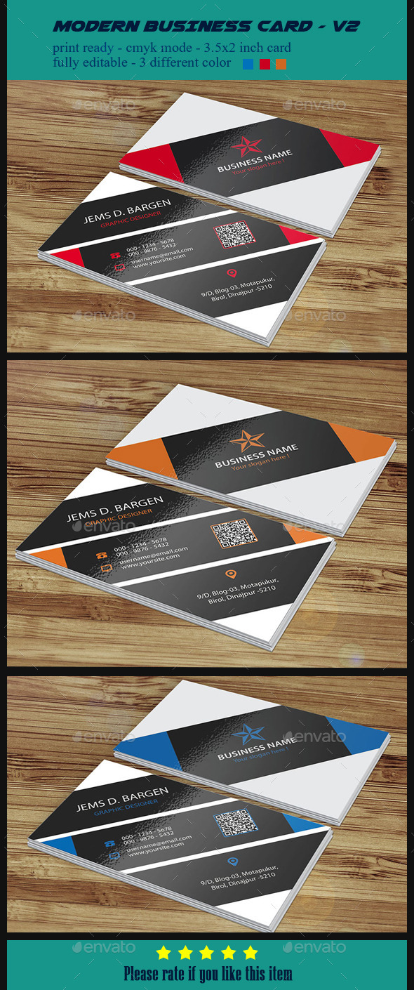 Modern Business Card - V2 - Corporate Business Cards