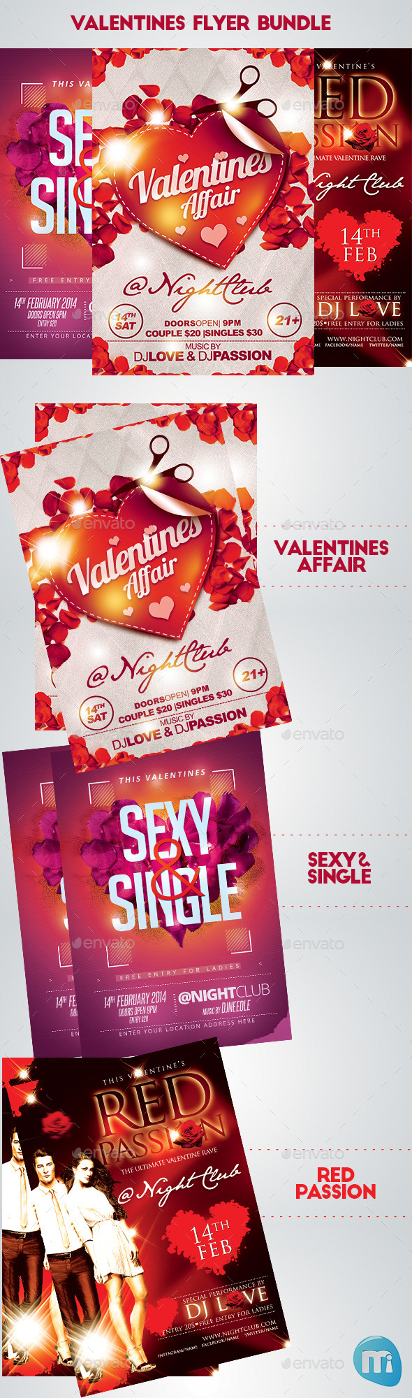 Valentines Day Bundle - Clubs & Parties Events