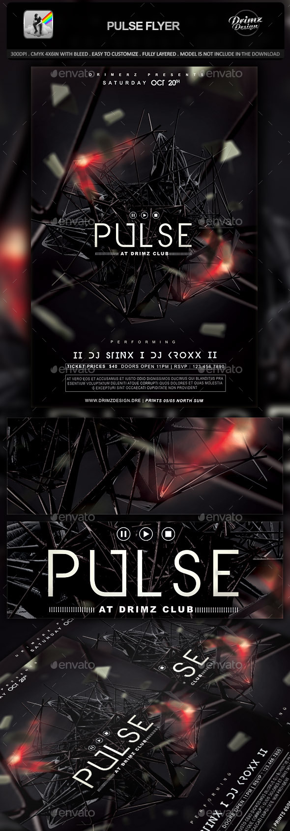 Pulse Flyer - Events Flyers