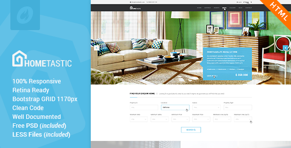 Hometastic – Real Estate HTML5 Template