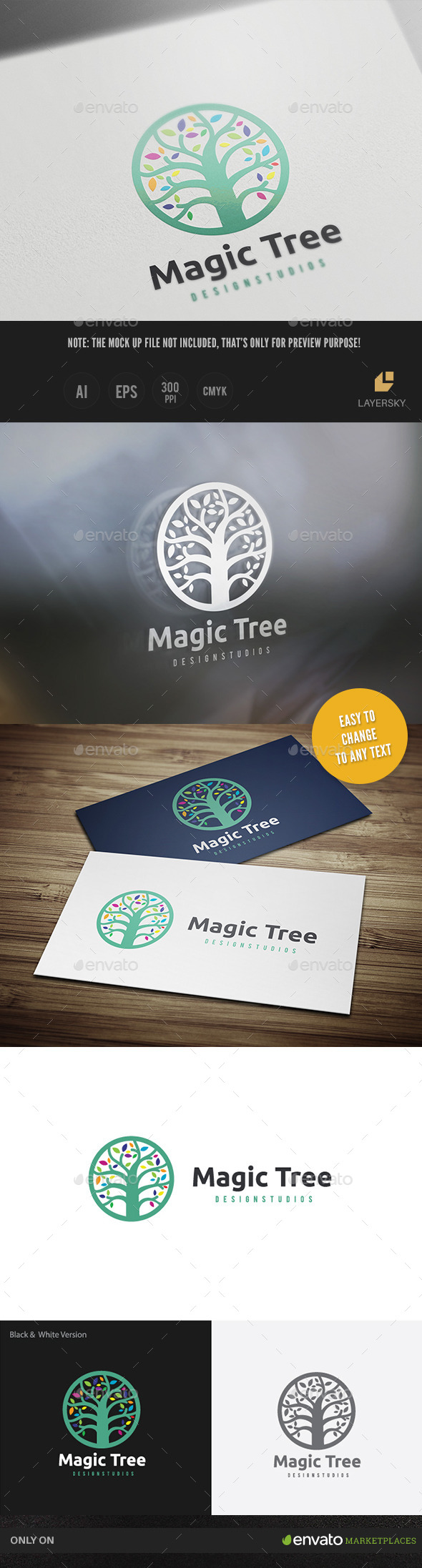 Magic Tree - Nature Logo Templates