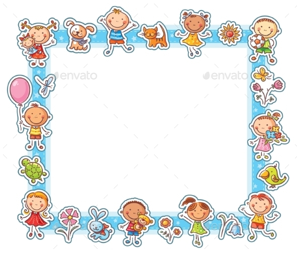 Happy Kids Rectangular Frame