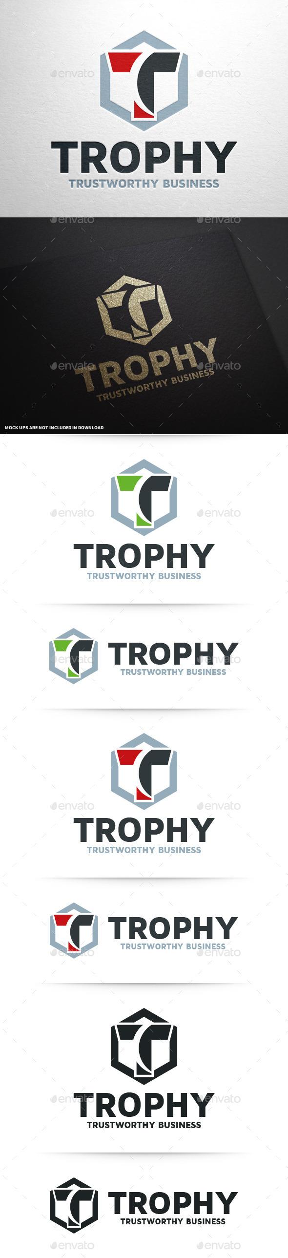 Trophy - Letter T Logo - Letters Logo Templates