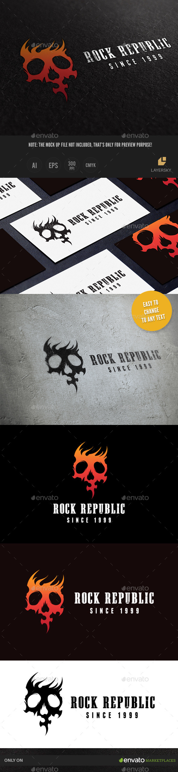 Rock Republic - Humans Logo Templates
