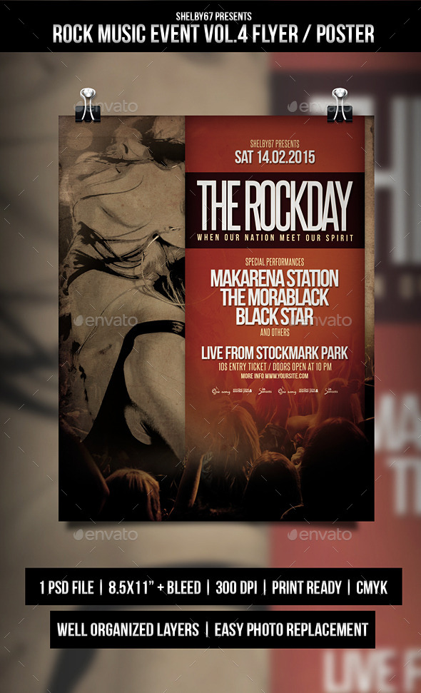 Rock Music Event Flyer / Poster Vol.4 - Events Flyers