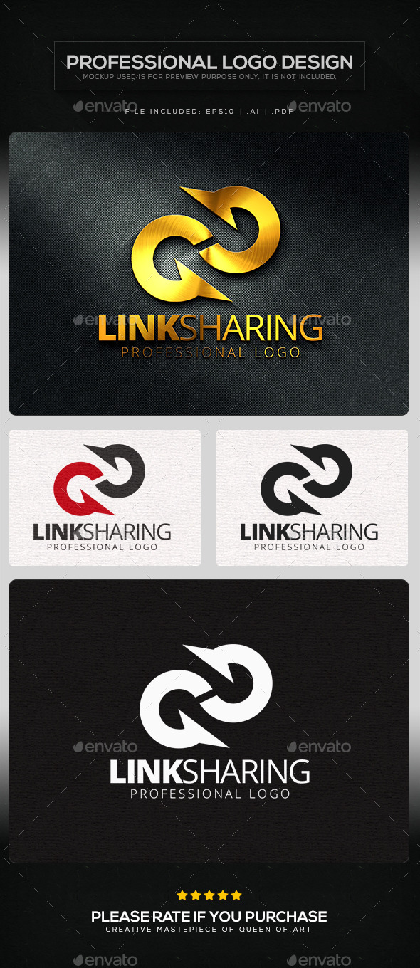 Link Sharing Logo Template - Letters Logo Templates