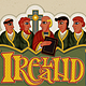 Ireland, Monks in Modern Irish Celtic Art Style - GraphicRiver Item for Sale