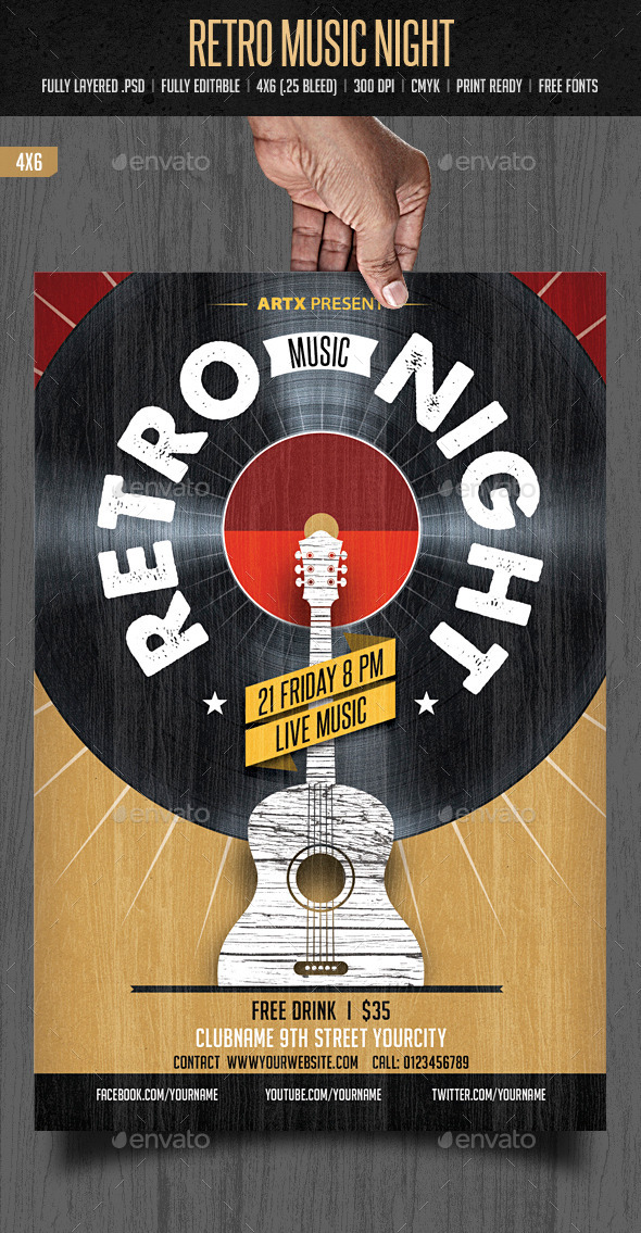Retro Music Night - Clubs & Parties Events