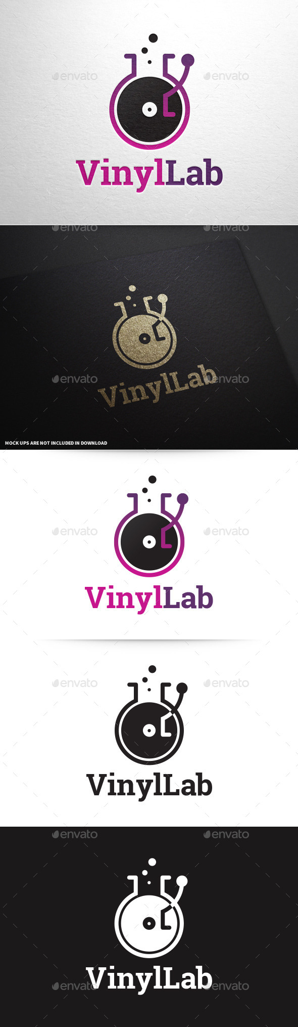 Vinyl Lab Logo - Objects Logo Templates