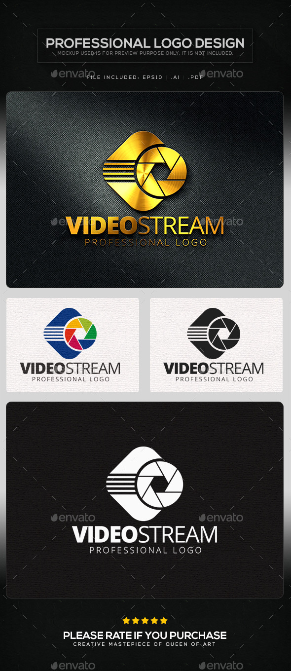Video Stream Logo Template - Objects Logo Templates