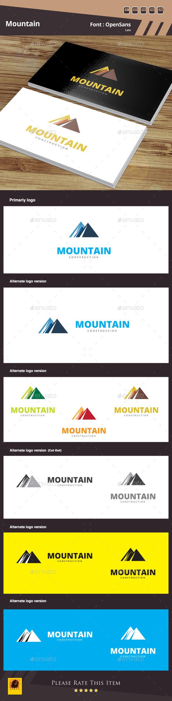 Mountain Logo Template - Buildings Logo Templates