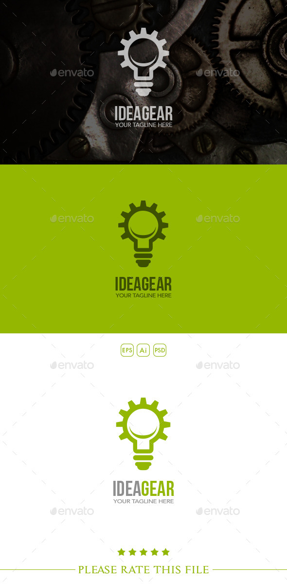 Idea Gear Logo - Vector Abstract