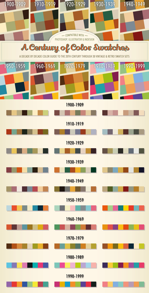 A Century of Color - Retro Swatches - Add-ons