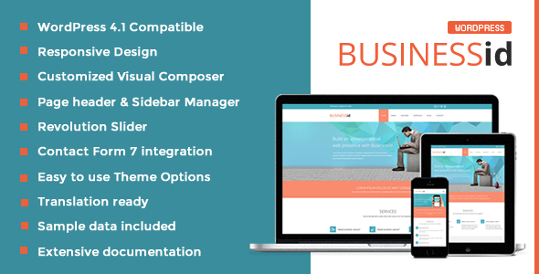 BusinessId – Responsive Business WordPress Theme
