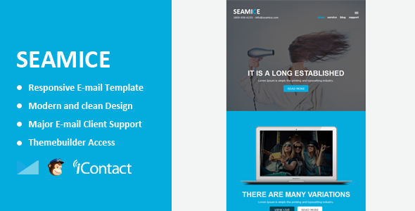 Seamice - Responsive Email + Themebuilder Access - Email Templates Marketing