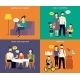 Family with Children Concept Flat Icons Set - GraphicRiver Item for Sale