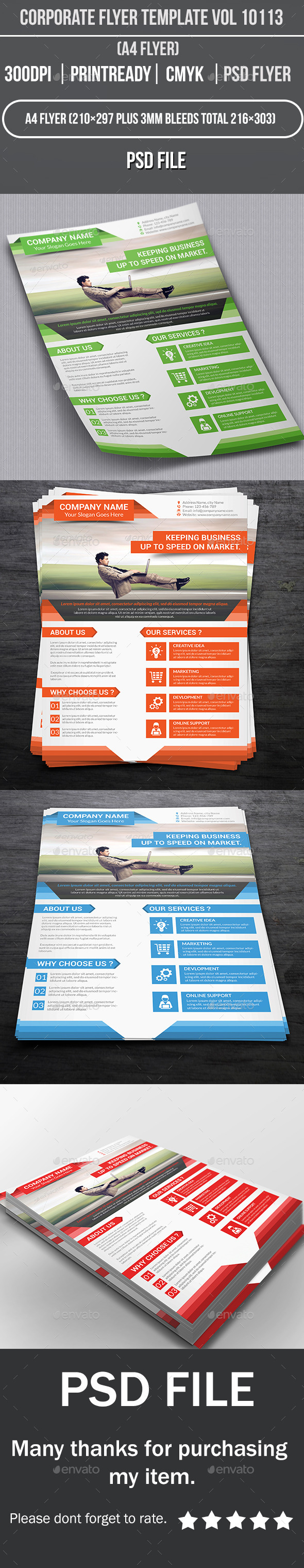 Corporate Flyer Template Vol 10113 - Corporate Flyers