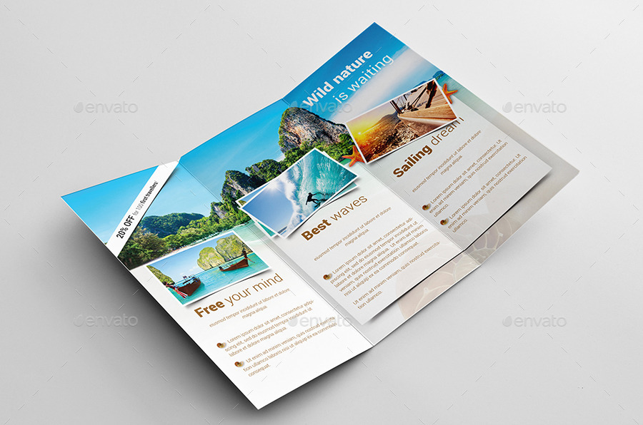 Travel Holiday Trifold Brochure By Kahuna Design