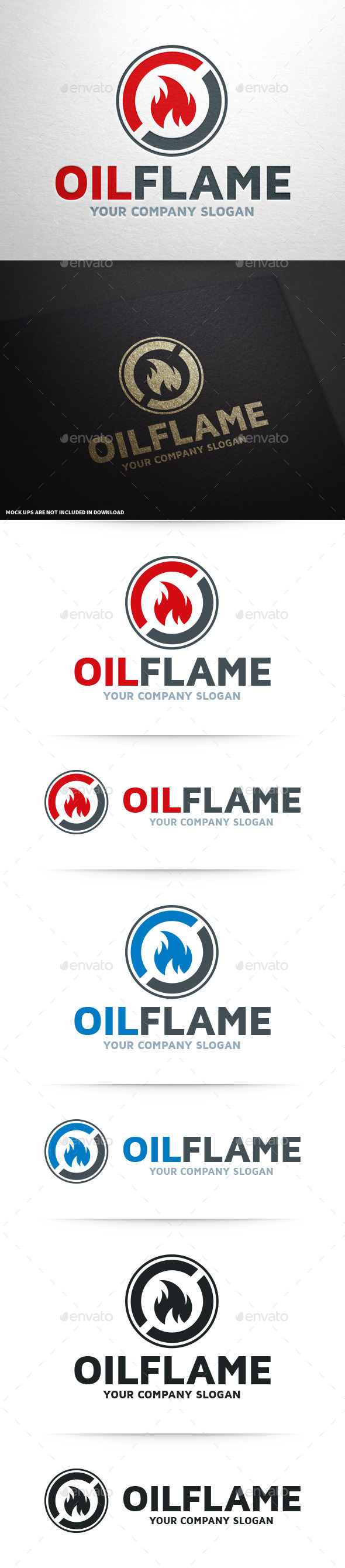 Oil Flame Logo Template - Symbols Logo Templates
